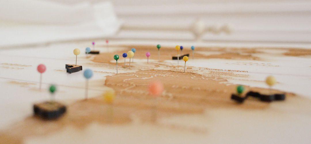 Positionnement de marqueurs sur une carte